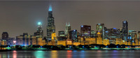 02/04 Enormous Chicago Night Skyline - 100 exposures