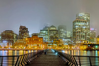 02/03 - San Francisco Foggy Night Panorama from Pier 14 - 02 MIDDLE
