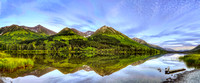 A Panorama of Alaska's Summit Lake and Chugach Mountains