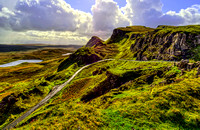 Quiraing Pass - The Road from Uig to Staffin on the Isle of Skye