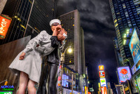 """Unconditional Surrender"" Sculpture in Times Square - Manhattan"