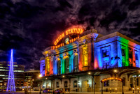 Denver Colorado - Holiday Union Station at Night