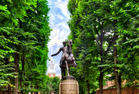 Paul Revere's Monument with Old North Church - Boston