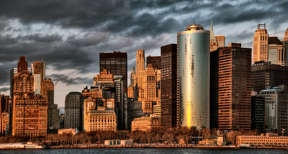 Manhattan Bathed in Sunlight -  Panorama