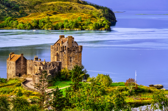 Eilean Donan Castle from Above - Scotland