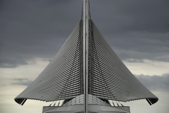 Architectural Wings Closing in Milwaukee Over Lake Michigan (Wisconsin)