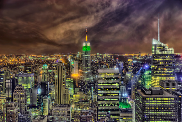 Empire State Skyline at Night - Manhattan