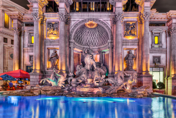 Caesars Fountain at the Palace at Night - Las Vegas