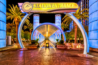 Las Vegas Monorail Station Entrance - Outside Bally's